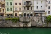 Lubiana - lungo il fiume Ljubljanica